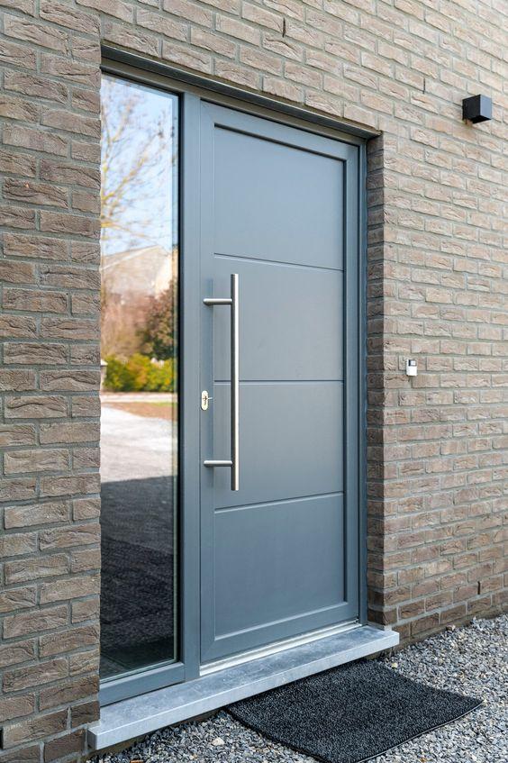 Porte entrée aluminium Pontchâteau Savenay Saint Nazaire